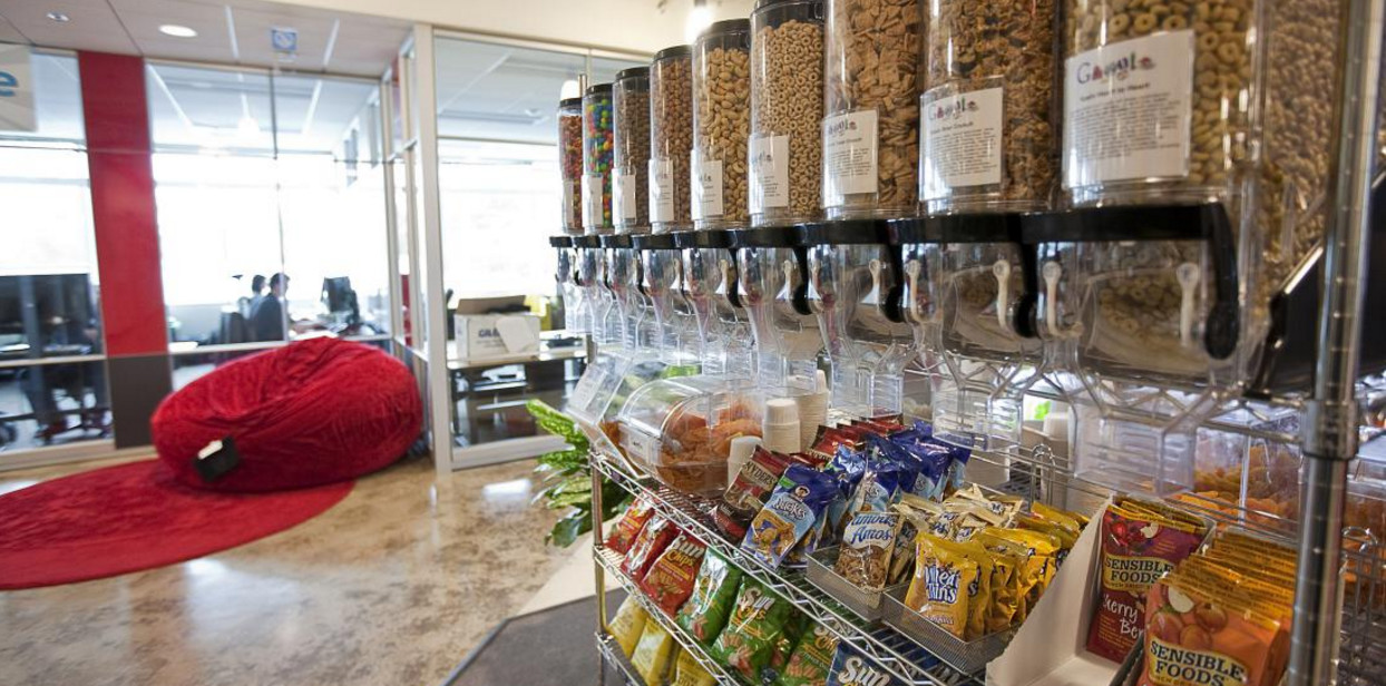 Le bar à snack chez Google